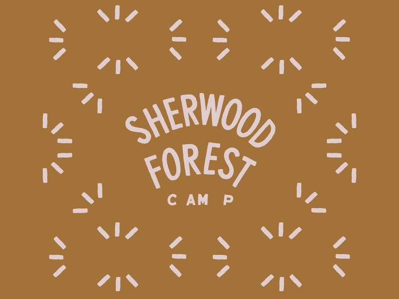 Sherwood Forest vector illustration woods north minnesota logo type pattern outdoors summer camp