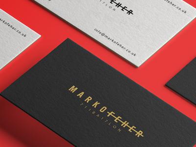 Marko Feher - Fashion Designer /  Logo and Website Redesign