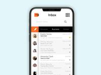 Inbox App ux ui subtle simple mobile inbox email design concept app