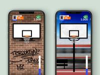 Basket Game App Concept ux urban ui streetbasket sport game design basketball basket app