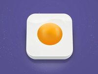 Break The Egg - App Icon W.I.P. simple clean illustration photoshop 3d egg design icon app