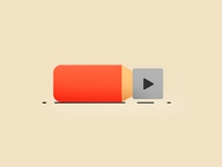 Pencil - The Possible Birth of the Play Button :) photoshop funny creative design simple illustration birth play button pencil