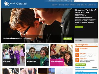Work in progress build for another school website school education