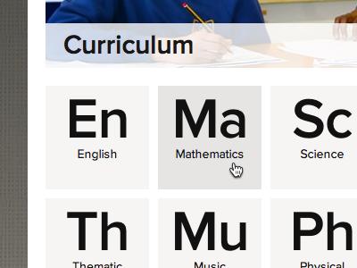 Core Subjects Select menu ui interface navigation
