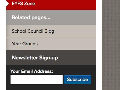 Sidebar Newsletter Subscribe school website academy education nav navigation menu