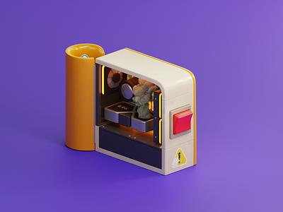 M💩ning smoke pc cryptocurrency crypto mining btc eth 3080 rtx blender3d blender