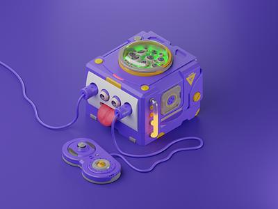 GameCube Toxic Edition isometric blender3d blender gamepad 3d nintendo gamecube