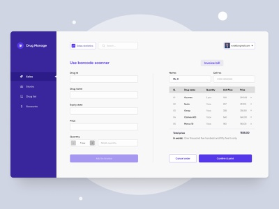 Pharmaceutical Product Management Dashboard webapplication adobe xd figma interaction pharmaceutical medicine drug pharmacy ui  ux design website ux user interface ios ui design android mobile app