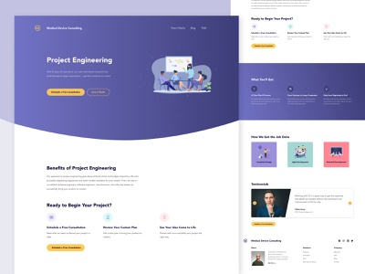 Project Engineering Landing Page webpage device c3 webapp landing page cta illustration medical engineering interaction ui  ux design website ux user interface ui design android mobile app