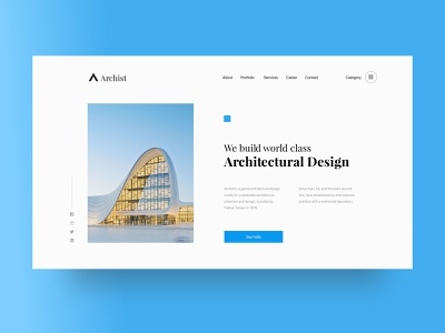 Architectural Studio Website Header graphics illustrations landing page design clean minimal new civil engineering engineering architecture interaction ui  ux design website ux ios user interface ui design android mobile app