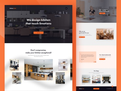 Kitchecolor Landing Page free mockup animation interaction ios mobile user interface design webapp awesome minimal interior kitchen color landing page ui ux ui website landing page kitchenware