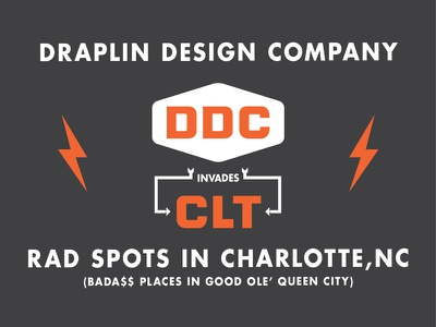 Aaron Draplin is coming to Charlotte #2 ddc draplin orange fuck yeah language vector typography charlotte clt queen city america
