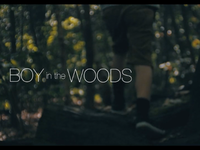 Boy in the Woods Title