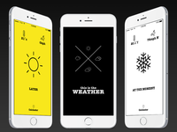 this is the WEATHER app design