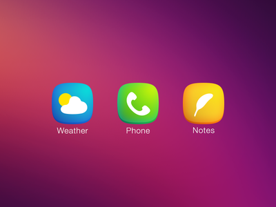 Plain iOS7 Icons icons iphone weather phone notes plain