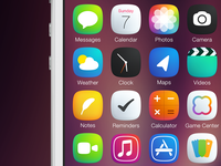 Plain iOS7 Icons