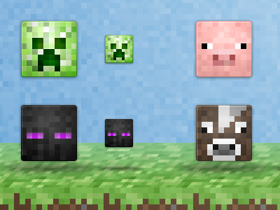 Minecrafticons icons minecraft character