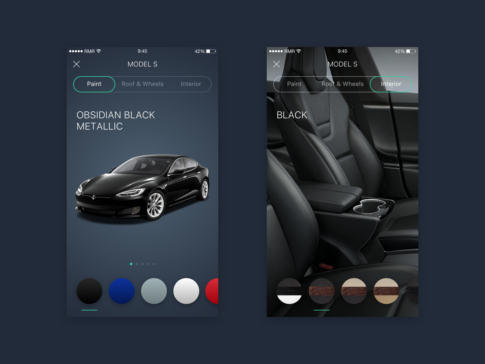 Dribbble - tesla-paint-screen png by Nikita Temryazansky