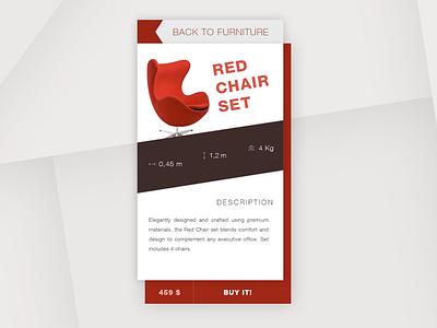 Furniture app UI ui practice commerce design minimal clean store furniture mobile chair app ui 100days