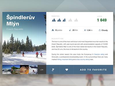 Mountain resorts widget 100days simple skiing flat nature resort mountain app widget tablet mobile ui