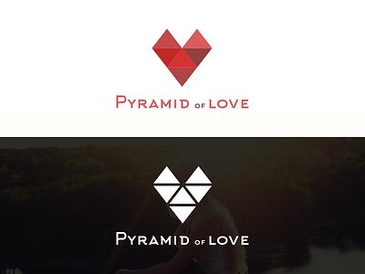 Logo Pyramid of Love triangle heart love pyramid logo