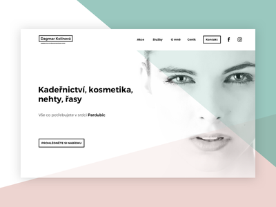 Beauty Salon - Website clean minimal beauty person face web design type typography ui