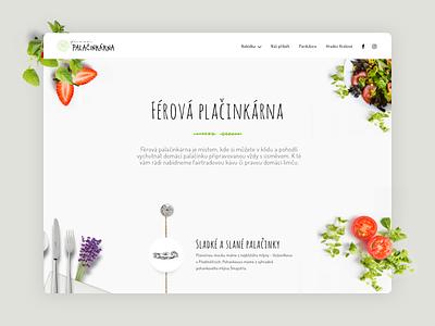 Ferova Palacinkarna - Design Concept restaurant photo typography design flatlay vegan bio food ui web