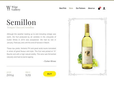 Wine Gallery - part 1/2 - Website design shop ecommerce ui typography white minimal gallery wine website