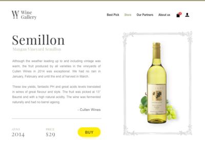 Wine Gallery - part 1/2 - Website