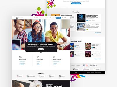University website design proposal simple type ux student people typography minimal school university design ui web