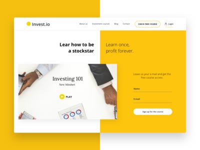 Invest.io - Webdesign