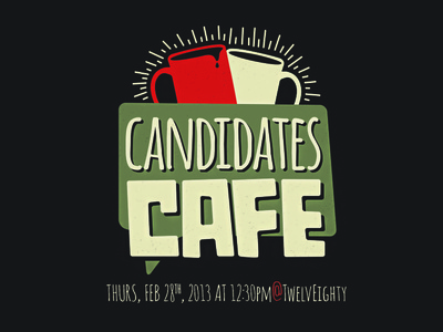 Candidates Cafe poster poster cafe coffee vector mcmaster