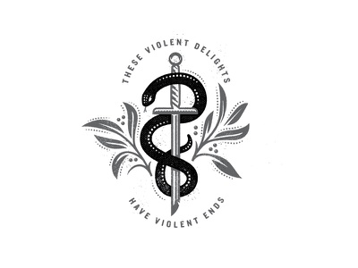 Violent Delights illustration vector shakespeare tattoo snake