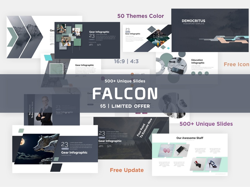 Falcon 2019 Presentation Template By Creaslide On Dribbble