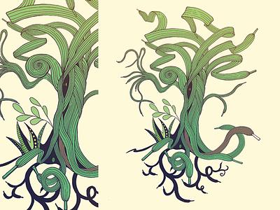 Shoelacetree paper analog handmade challenge daily ui tree shoelacetree ink illustration inspiration uidaily dailyui