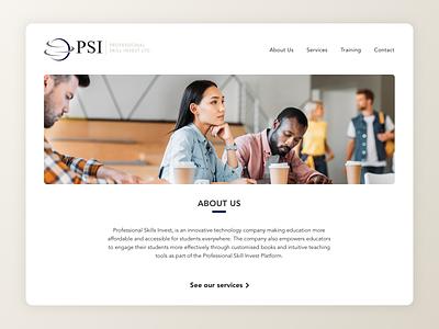 PSI Website Hero Image website ui design ui design