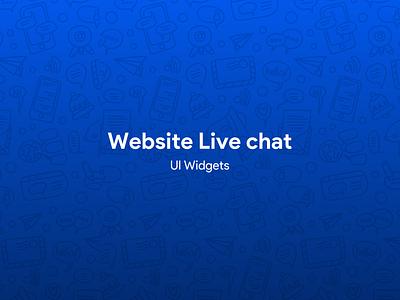 Website Live Chat communications software chat team communication live chat app design app website ui design ui design