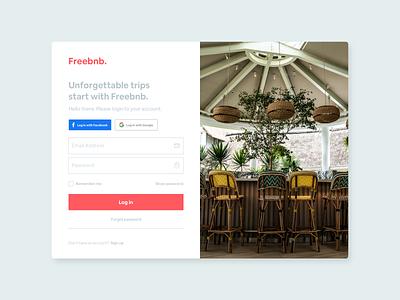 Airbnb Concept Login Screen login screen login design login form airbnbclone credentials sign up login page airbnb website app design app ui ui design design