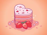 Strawberry Cake Love