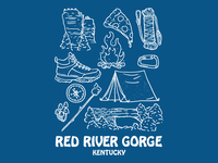 Red River Gorge Elements Tee red river gorge camping outdoors climbing hiking retro illustration kentucky