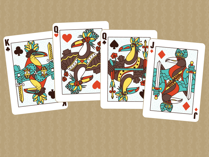 Toucan Playing Cards tropical toucans playing card playing cards toucan birds illustration vector