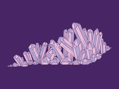 Crystal Kentucky tee design amethyst crystals crystal kentucky illustration
