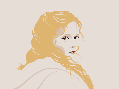 Katrina Van Tassel tim burton christina ricci minimal sleepy hollow portrait vector illustration