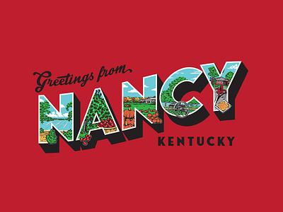 Nancy, Kentucky design lettering retro kentucky illustration