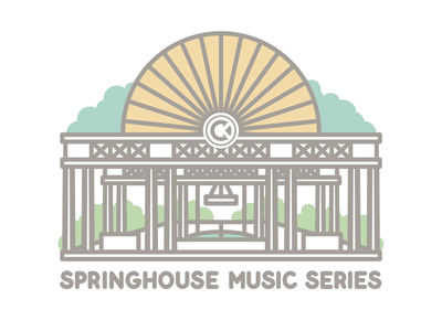 Springhouse Music Series distillery illustration garden tee design tees monoline
