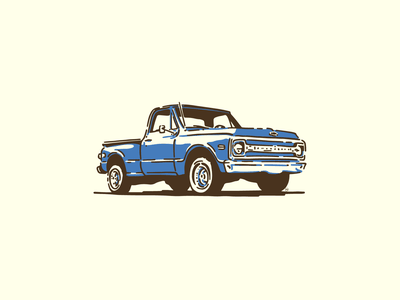 1970 Chevy vehicle vintage truck truck chevy illustration