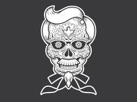 Colonel Sanders Sugar Skull