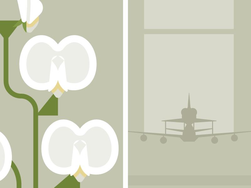 Flowers & Shuttles: Sweet Pea flat illustration nasa shuttle floral flowers vector
