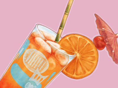 Limbo: Mai Tai tiki watercolor digital painting painting food cocktails drinks illustration