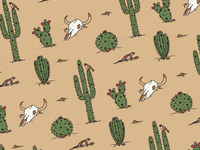 Desert Flora & Fauna Pattern